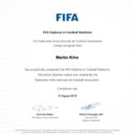 FIFA Medicine Diploma Martin Kiho